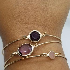 thin gem bracelets